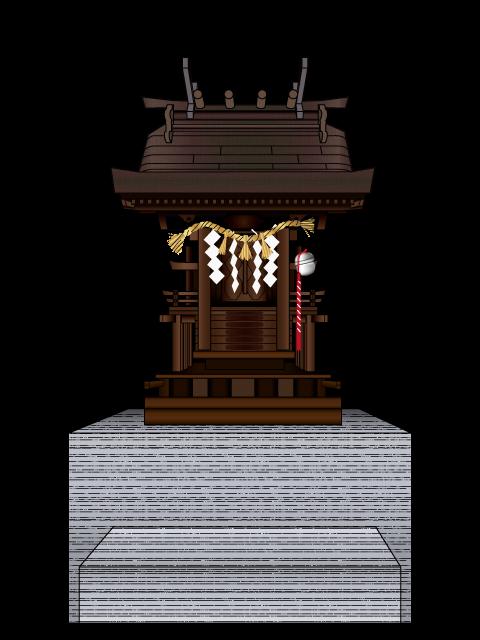三宅町伴堂(ともんど)にある嚴島神社のの社のイラスト